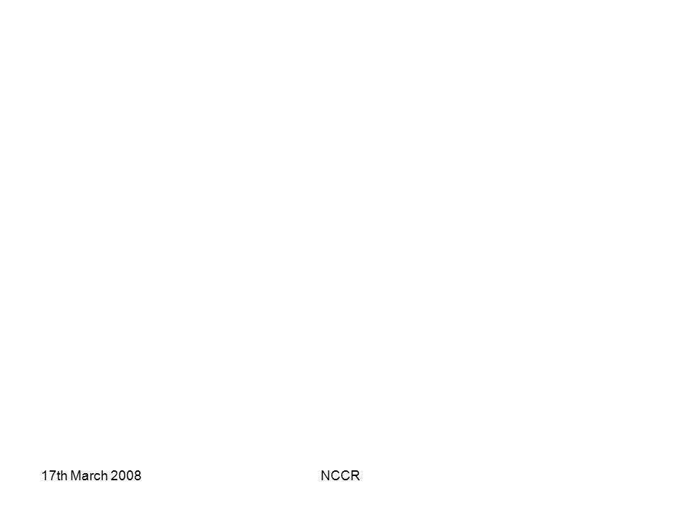 17th March 2008 NCCR