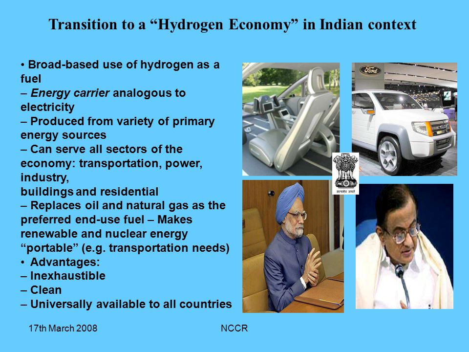 Transition to a Hydrogen Economy in Indian context