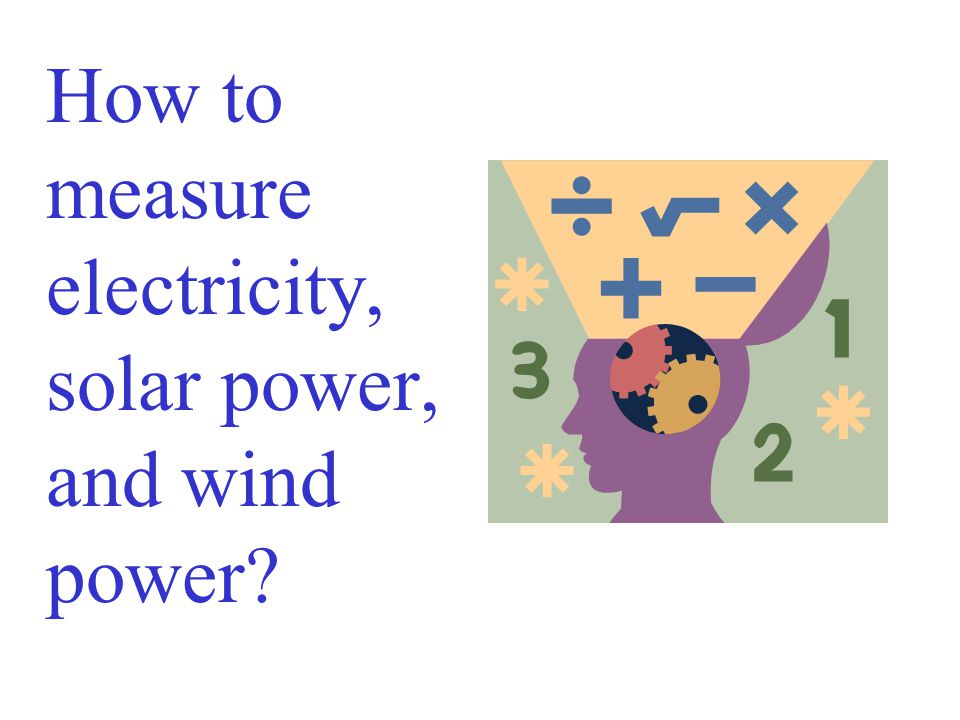 How to measure electricity, solar power, and wind power