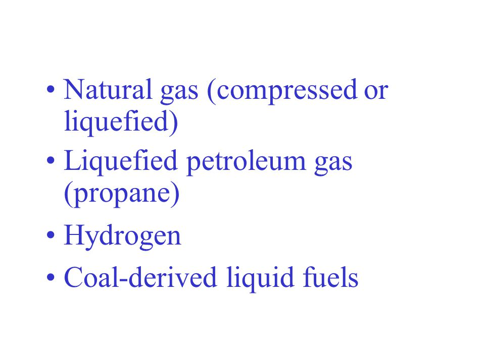 Natural gas (compressed or liquefied)