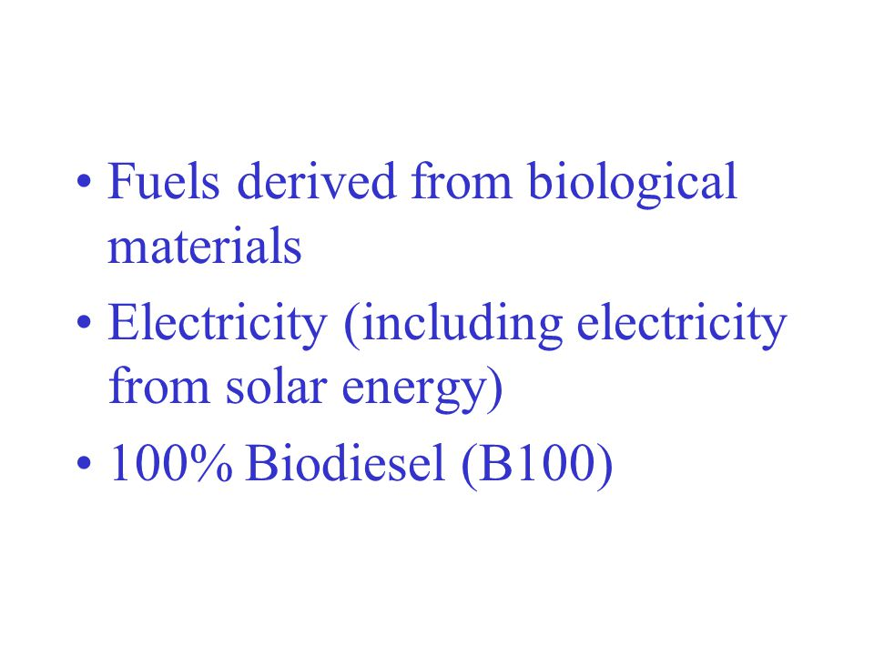 Fuels derived from biological materials