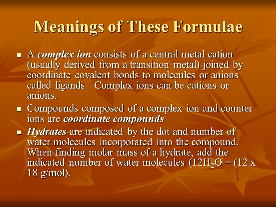 Meanings of These Formulae
