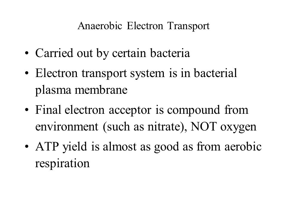 Anaerobic Electron Transport