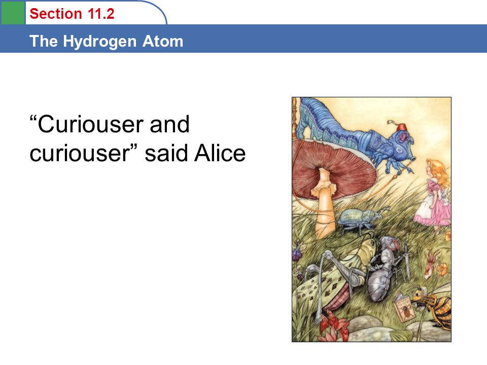 Curiouser and curiouser said Alice