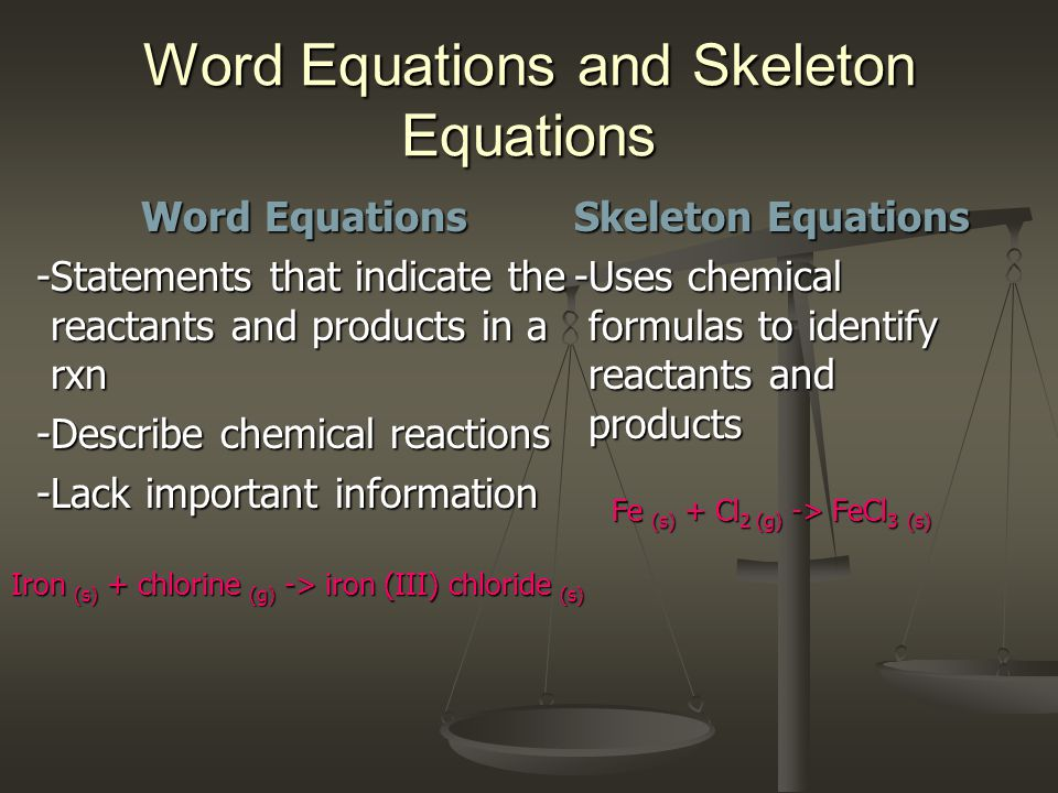 Word Equations and Skeleton Equations