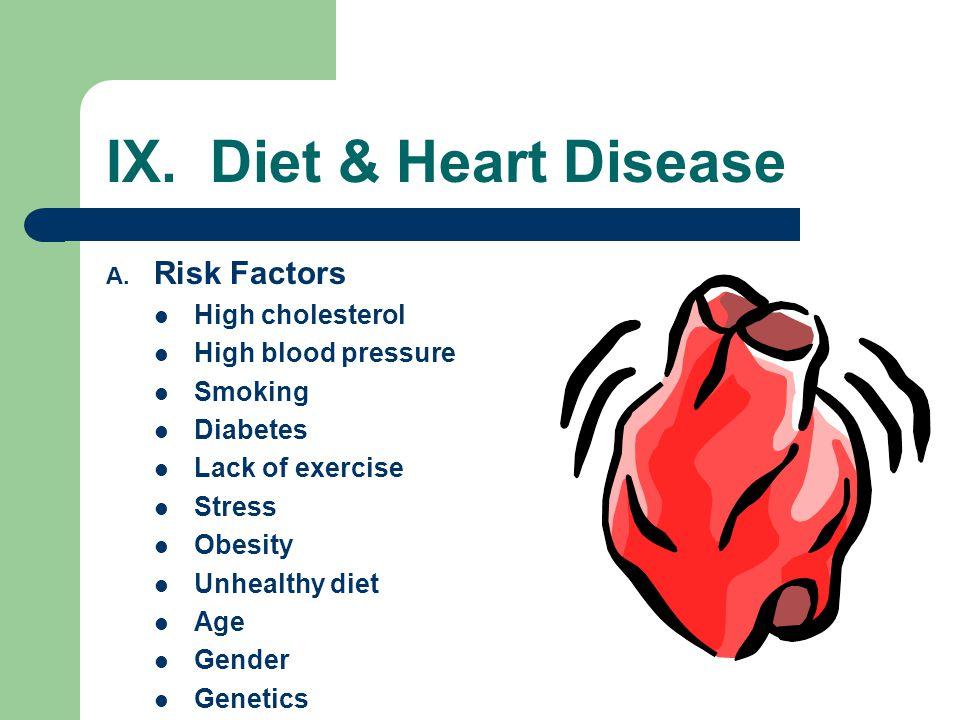 IX. Diet & Heart Disease Risk Factors High cholesterol