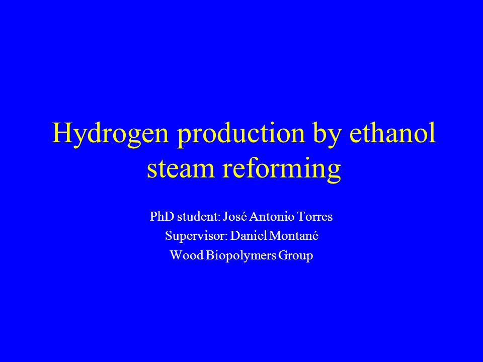 Hydrogen production by ethanol steam reforming