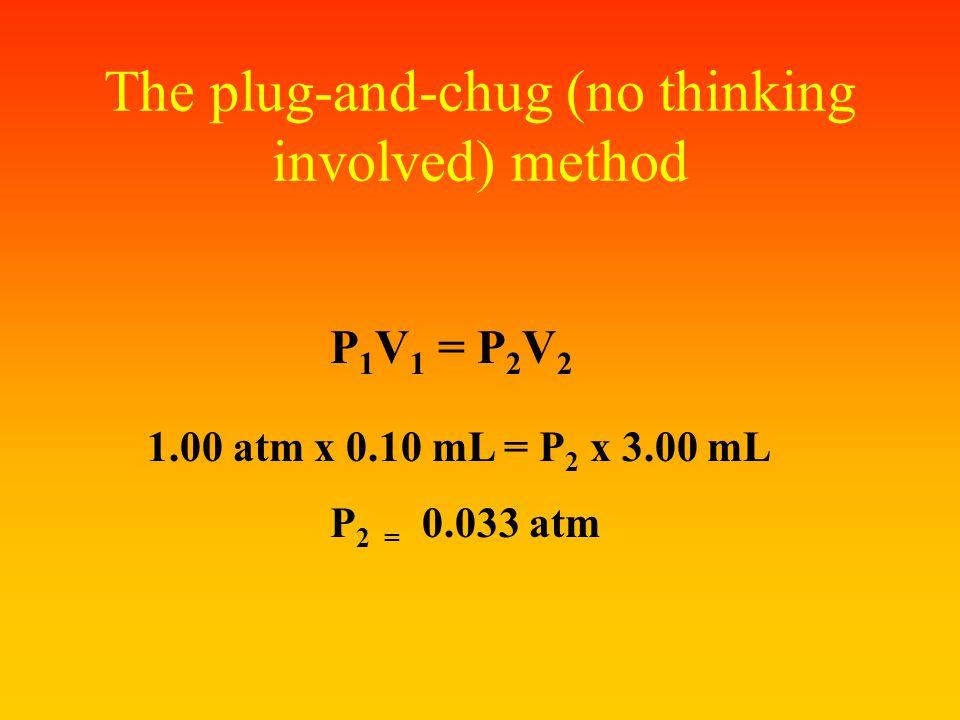The plug-and-chug (no thinking involved) method
