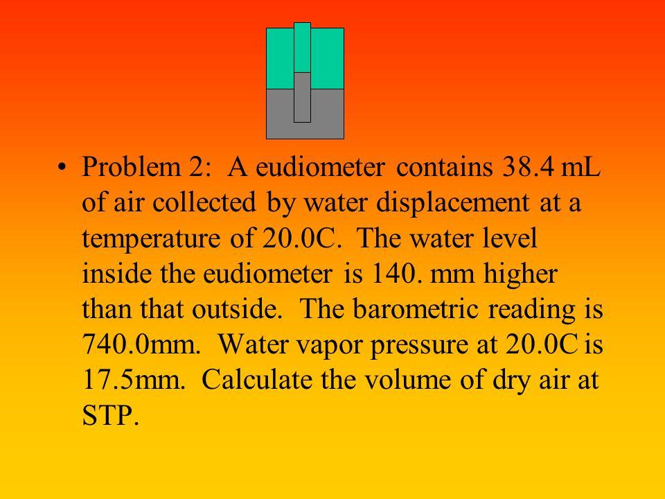 Problem 2: A eudiometer contains 38