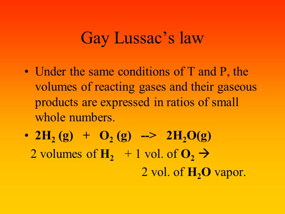 Gay Lussac's law