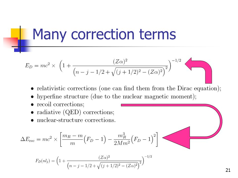 Many correction terms