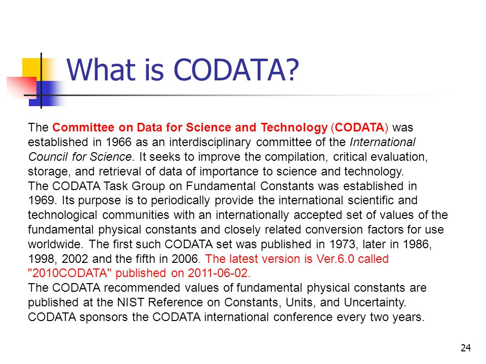 What is CODATA