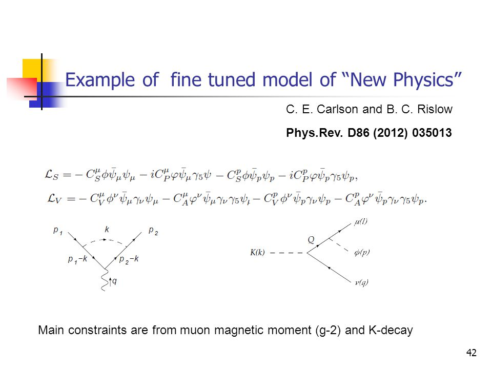 Example of fine tuned model of New Physics