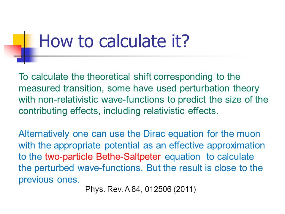 How to calculate it