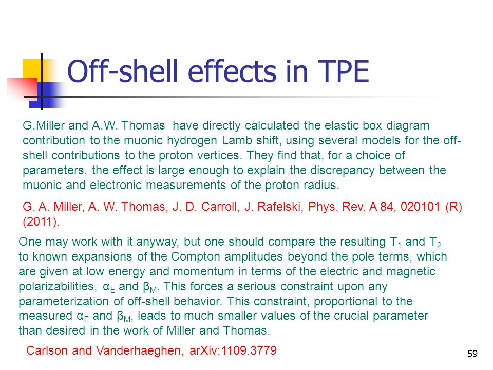 Off-shell effects in TPE