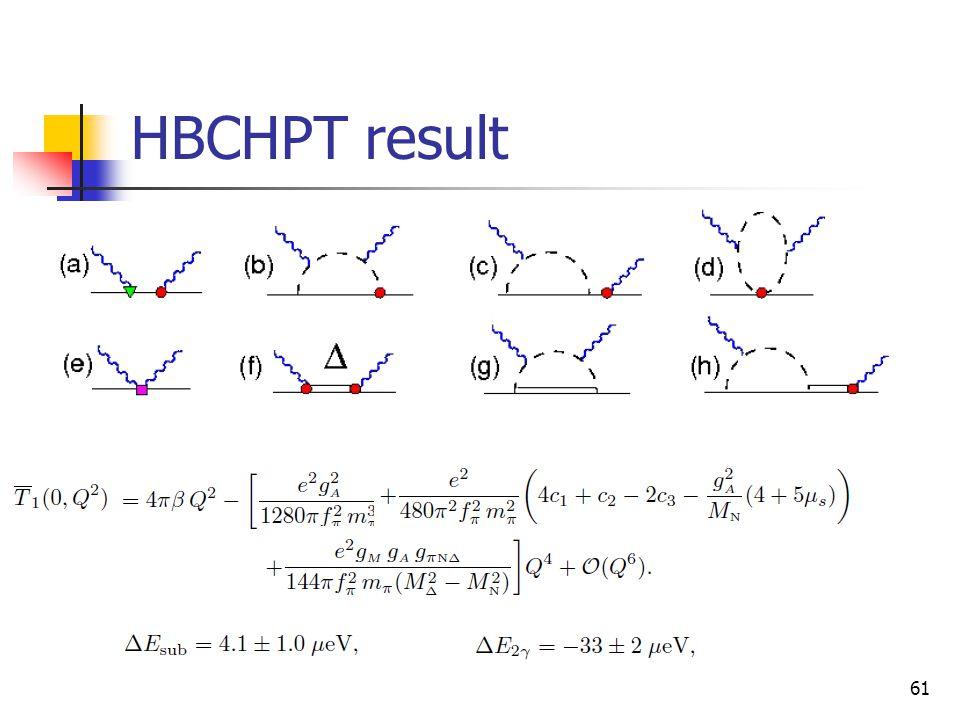HBCHPT result