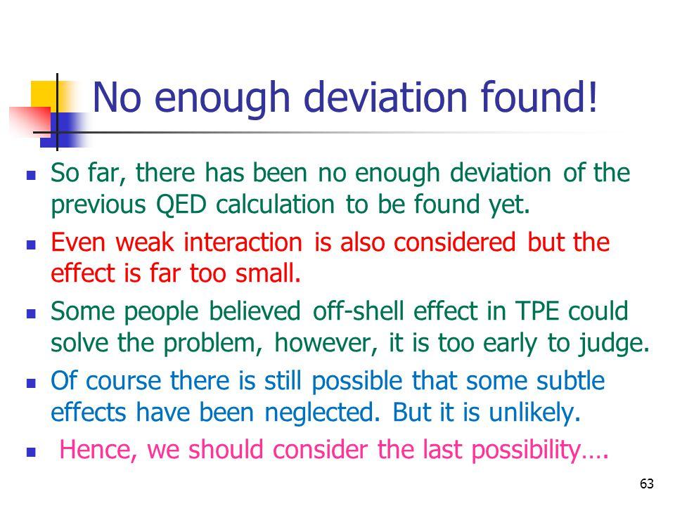 No enough deviation found!