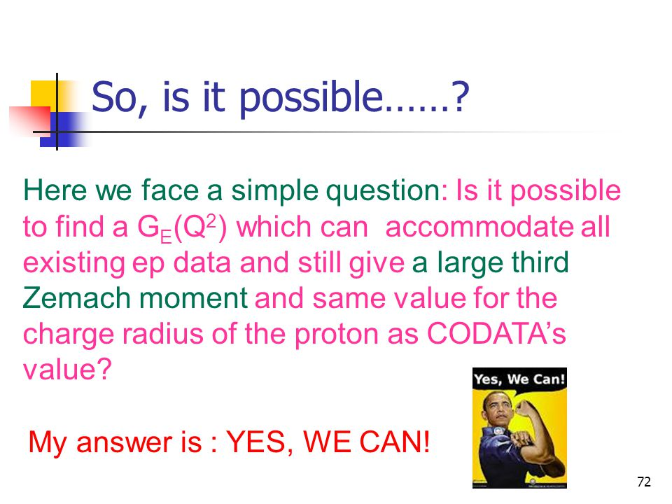 So, is it possible…… Here we face a simple question: Is it possible to find a GE(Q2) which can accommodate all.
