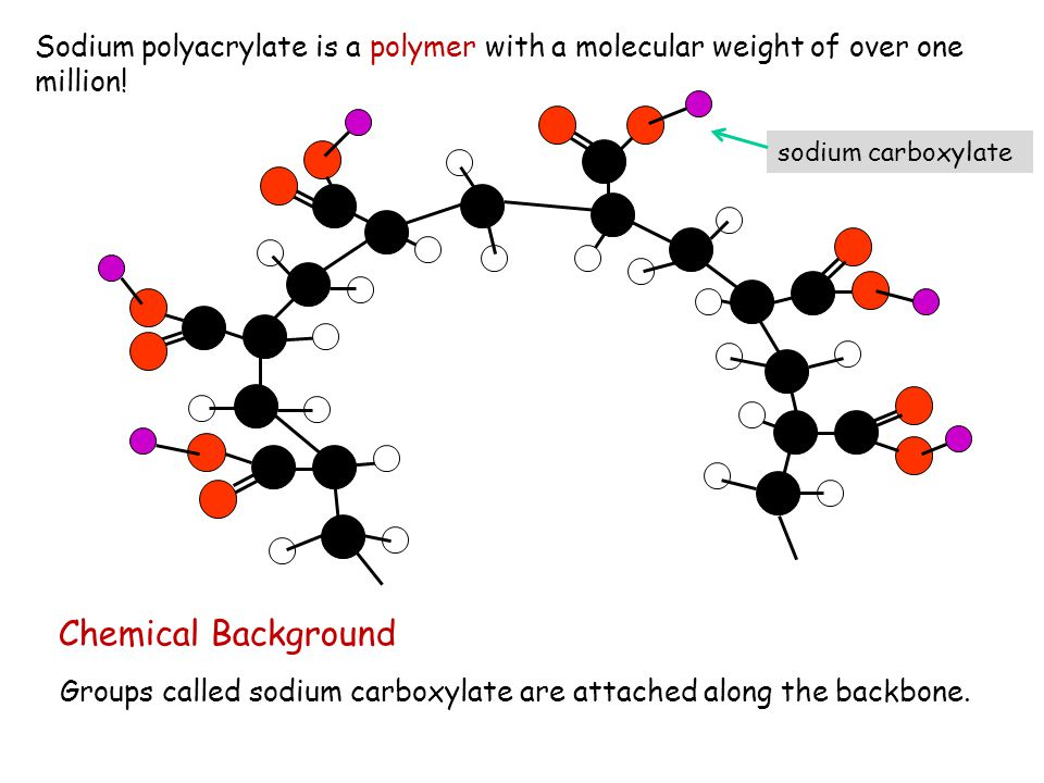 Sodium polyacrylate is a polymer with a molecular weight of over one million!