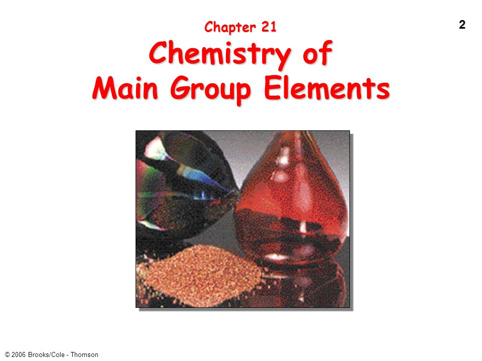 Chapter 21 Chemistry of Main Group Elements