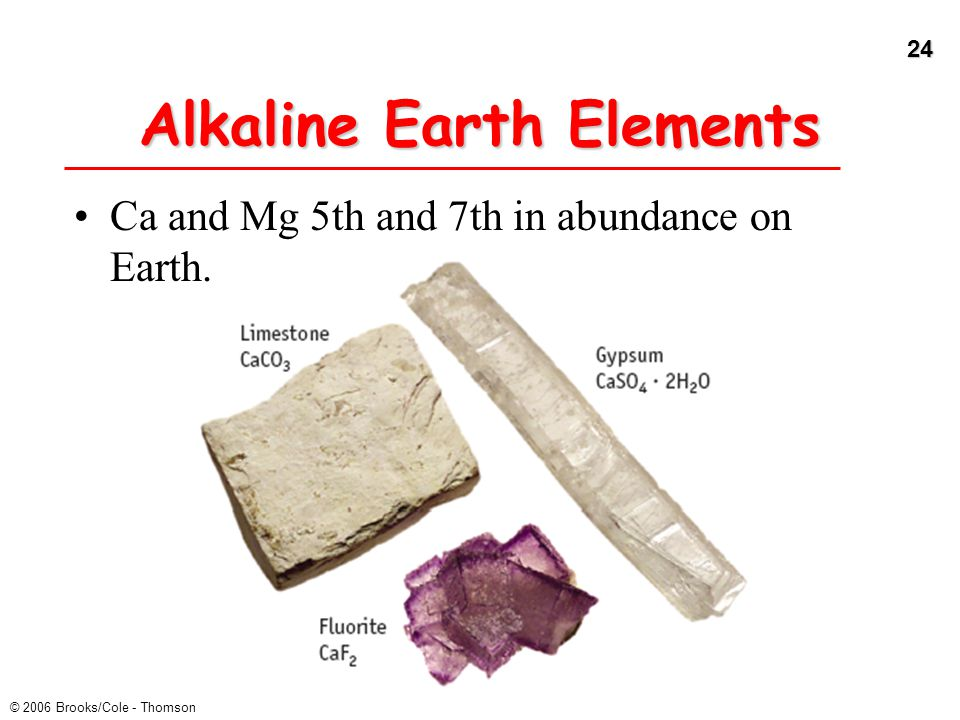 Alkaline Earth Elements