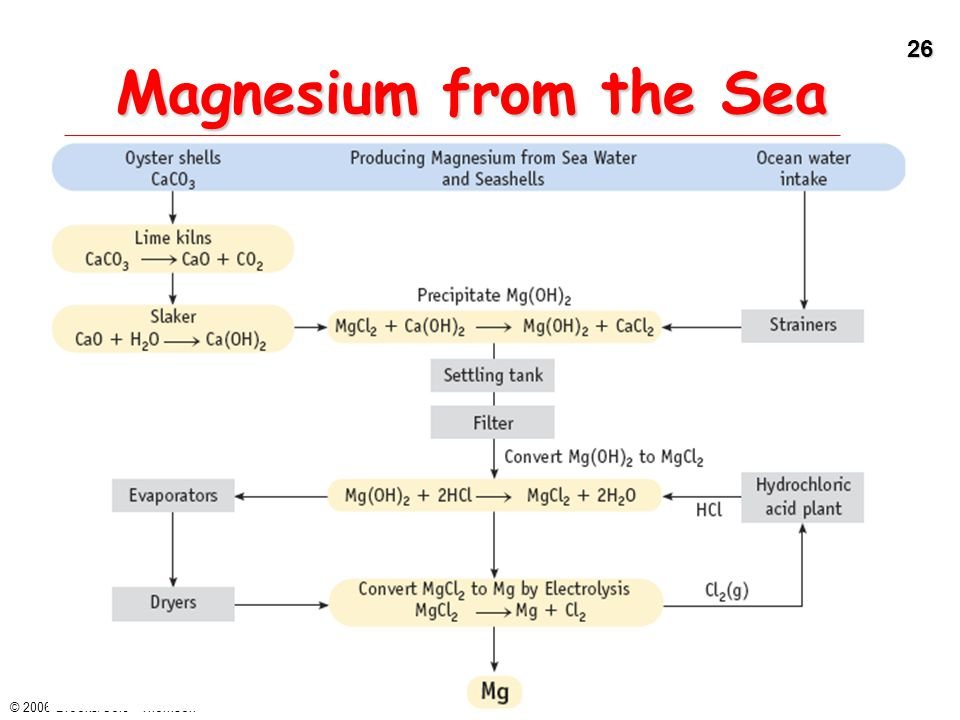 Magnesium from the Sea