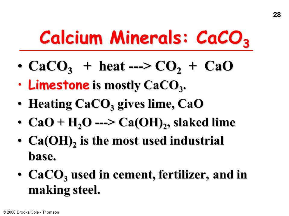 Calcium Minerals: CaCO3