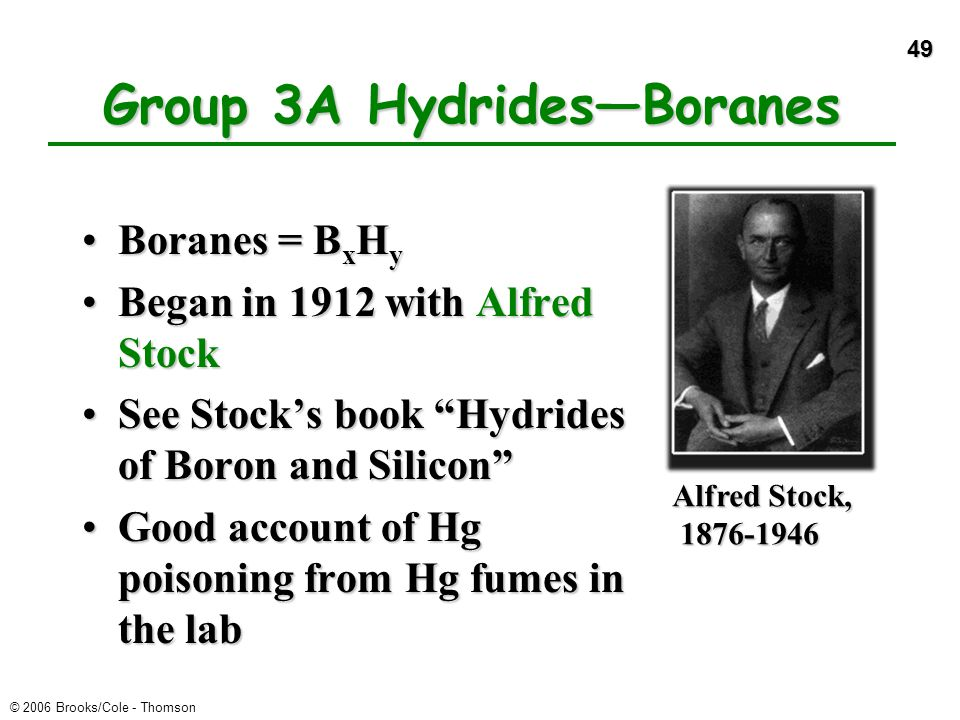 Group 3A Hydrides—Boranes