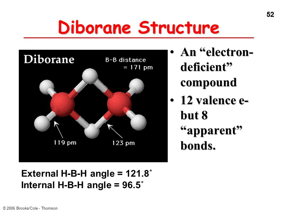 Diborane Structure An electron-deficient compound