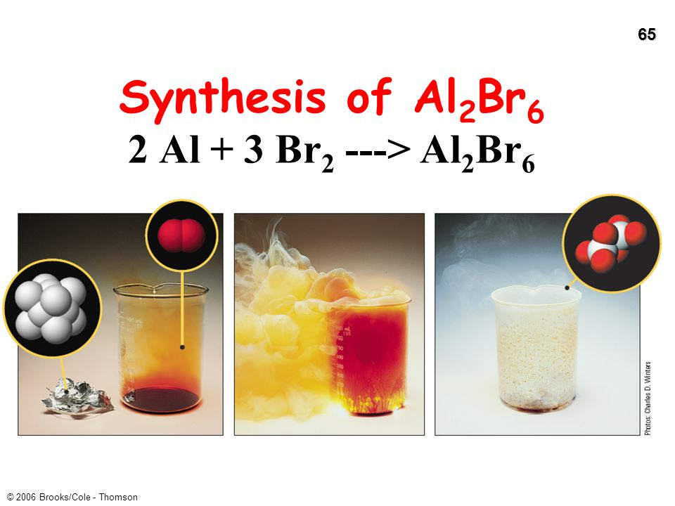 Synthesis of Al2Br6 2 Al + 3 Br2 ---> Al2Br6