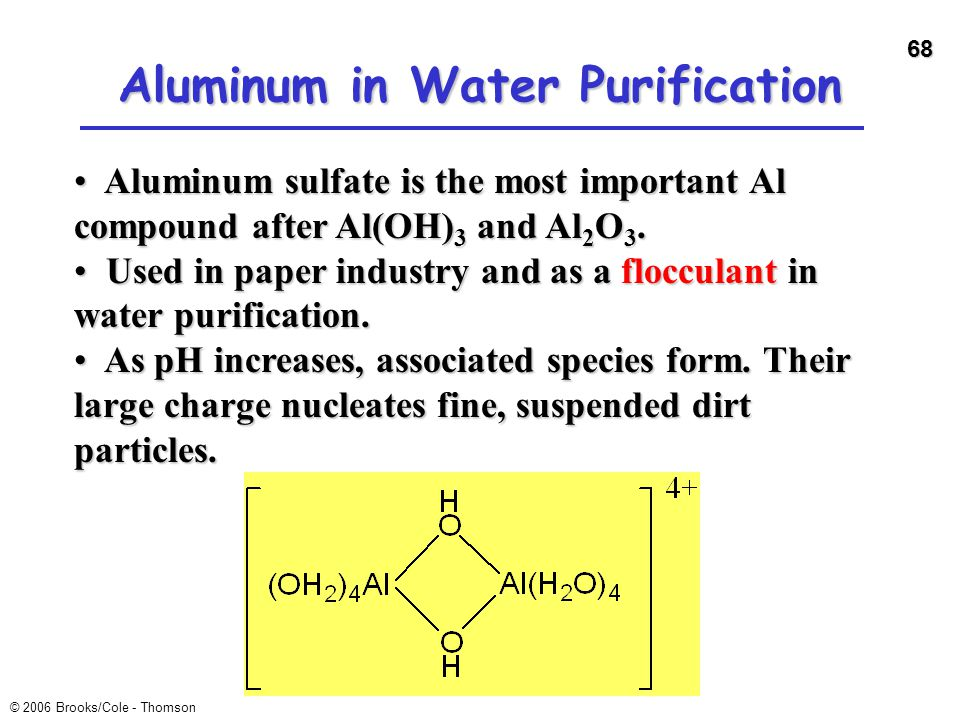 Aluminum in Water Purification