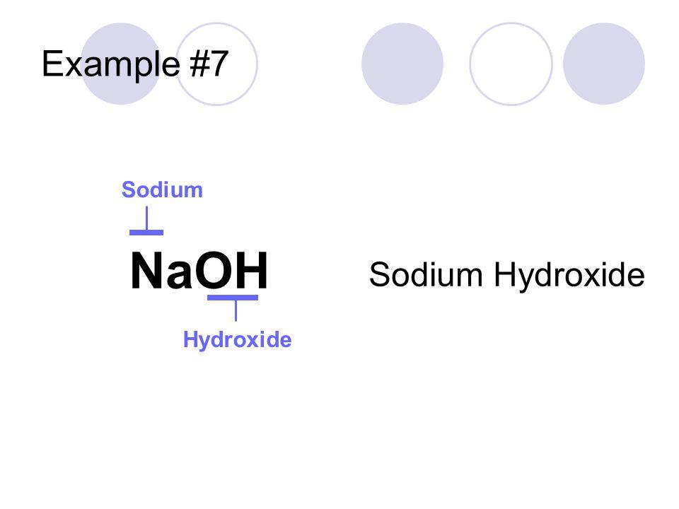 Example #7 Sodium NaOH Sodium Hydroxide Hydroxide