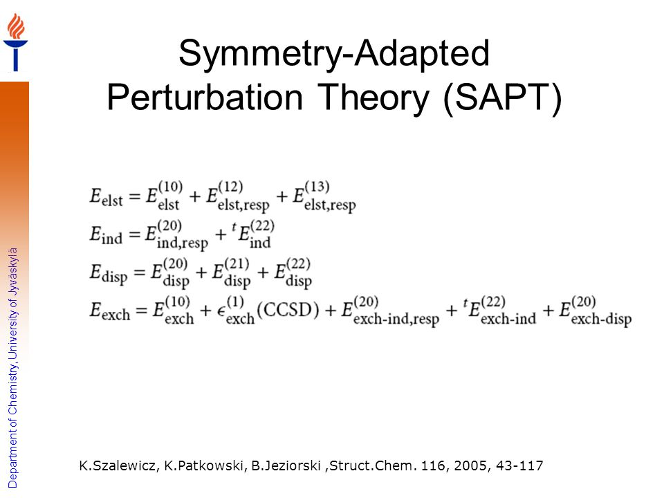 Symmetry-Adapted Perturbation Theory (SAPT)