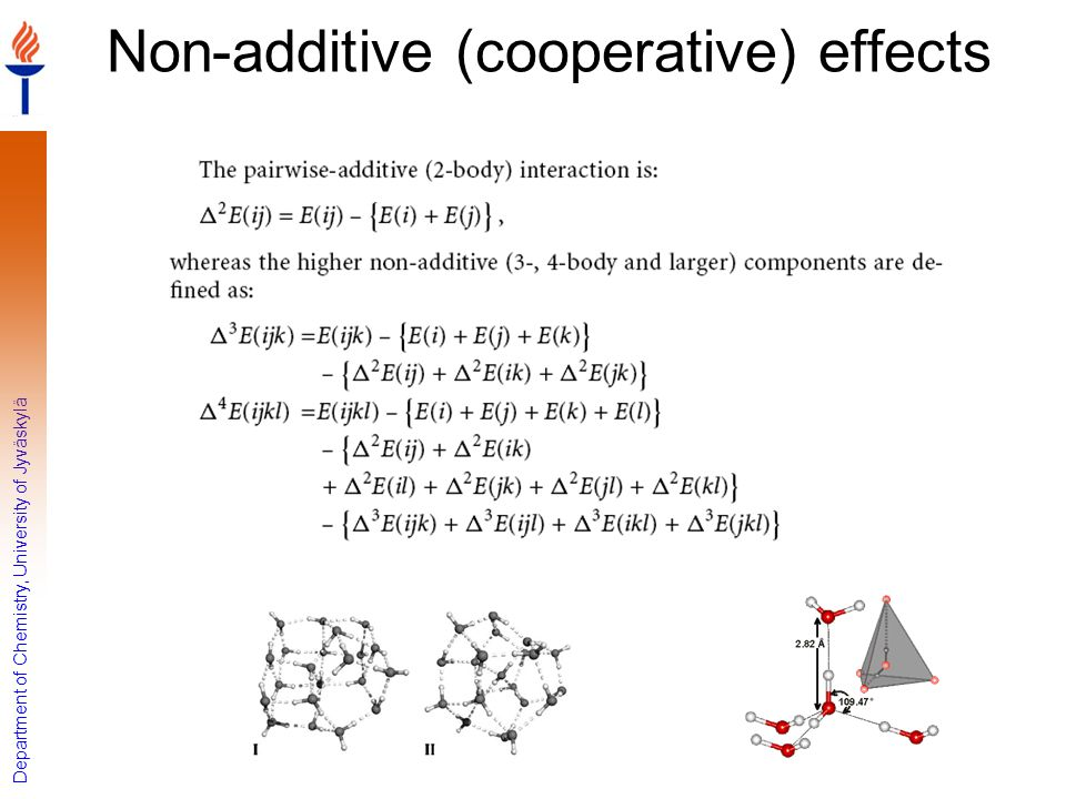 Non-additive (cooperative) effects