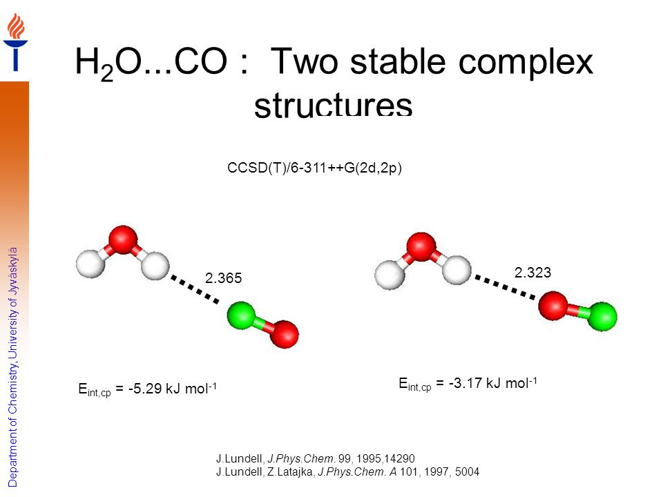 H2O...CO : Two stable complex structures