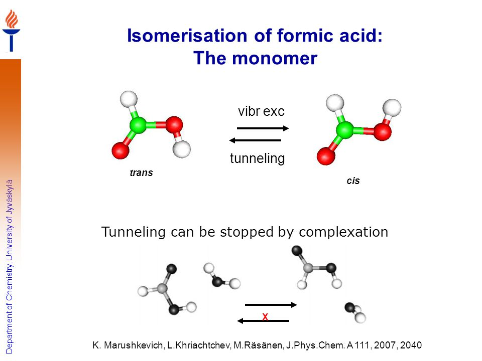 Isomerisation of formic acid: The monomer