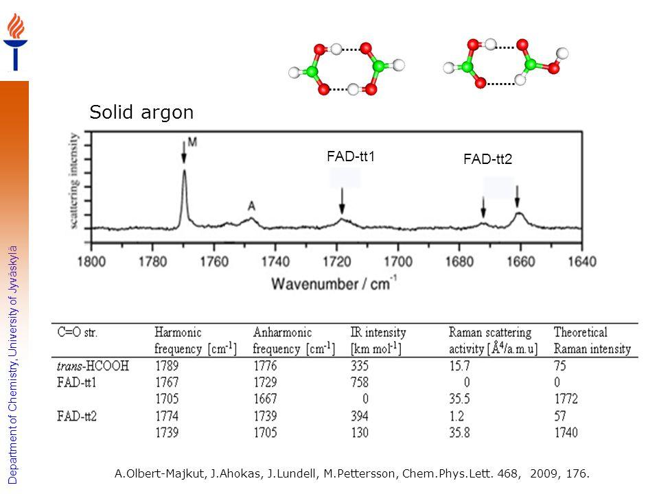 Solid argon FAD-tt1 FAD-tt2