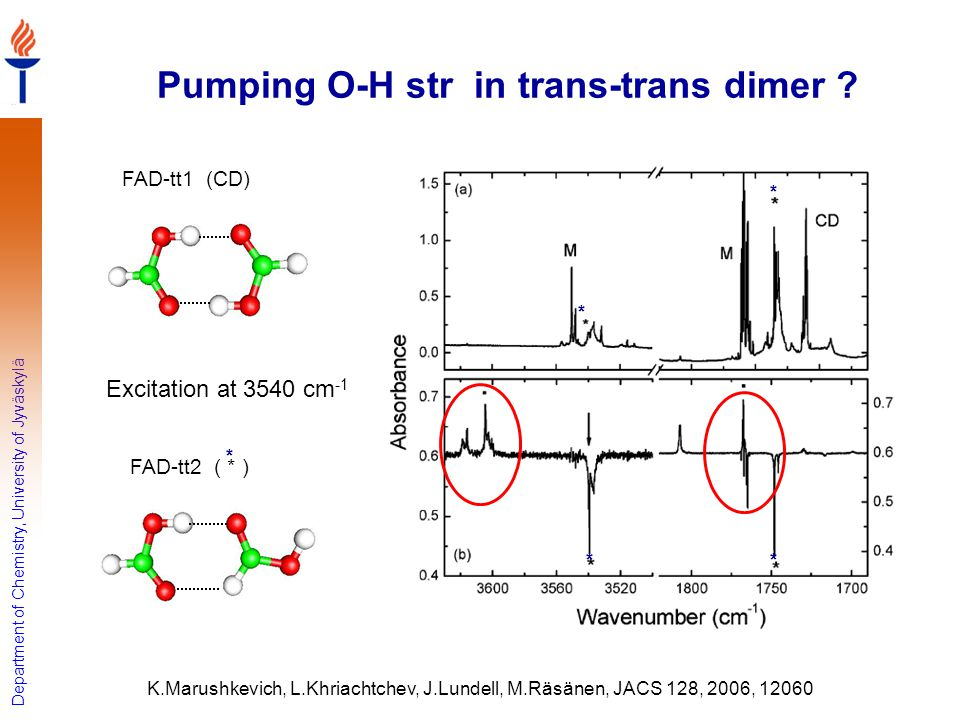 Pumping O-H str in trans-trans dimer