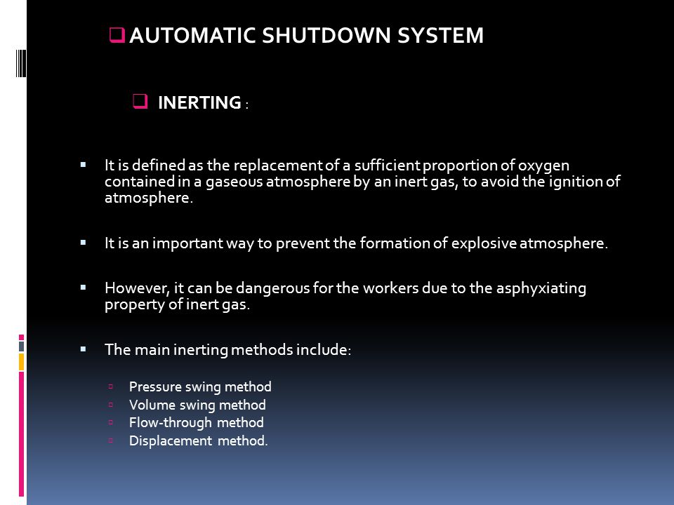 AUTOMATIC SHUTDOWN SYSTEM