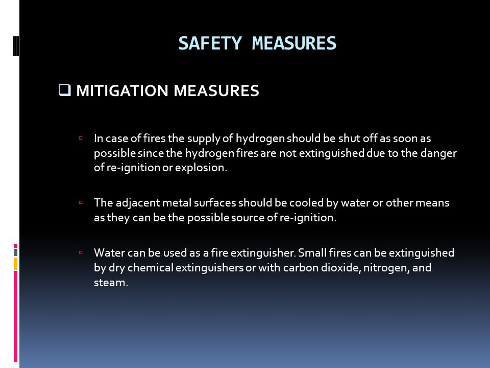 SAFETY MEASURES MITIGATION MEASURES