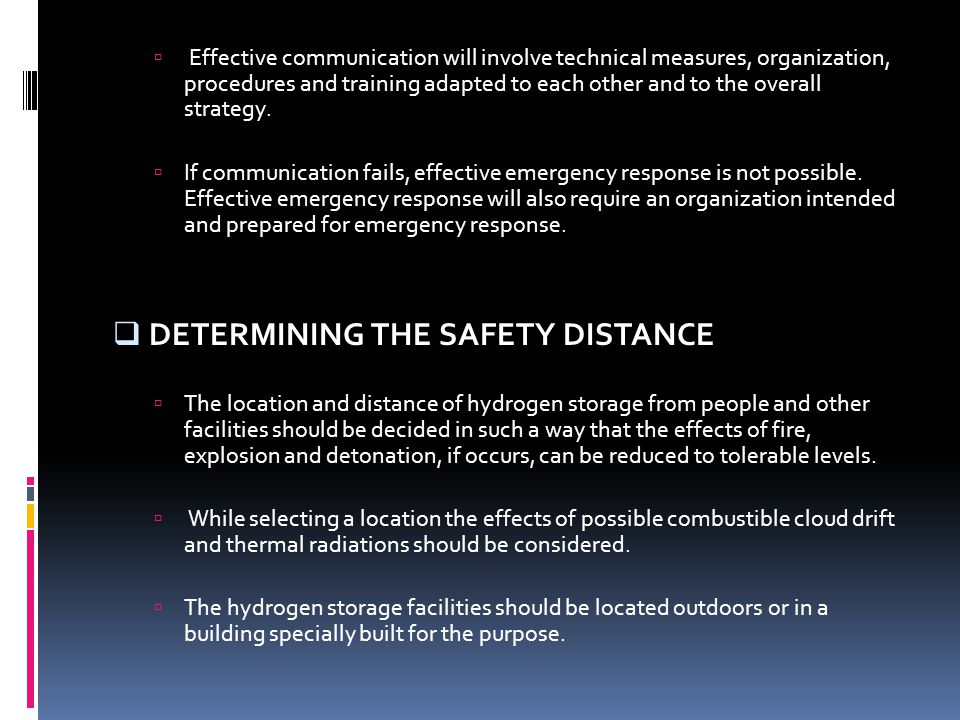 DETERMINING THE SAFETY DISTANCE