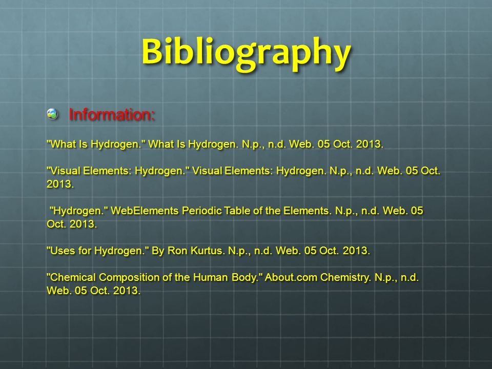 Bibliography Information: