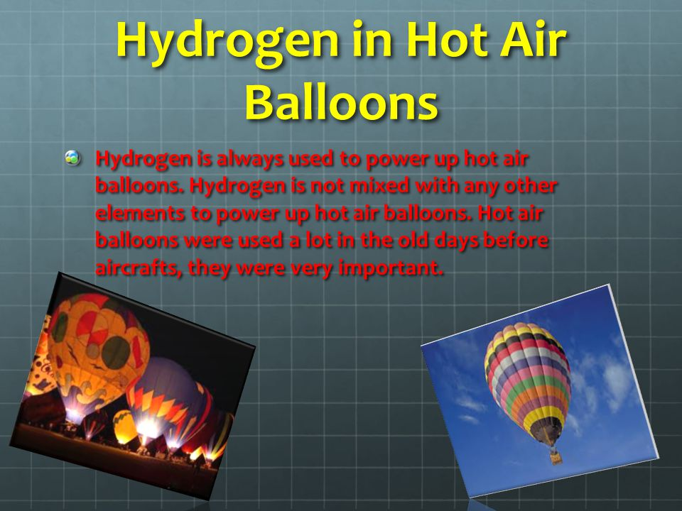 Hydrogen in Hot Air Balloons