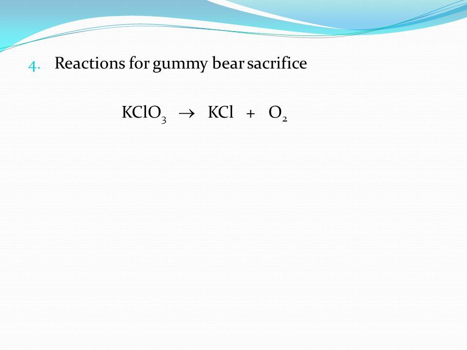 Reactions for gummy bear sacrifice