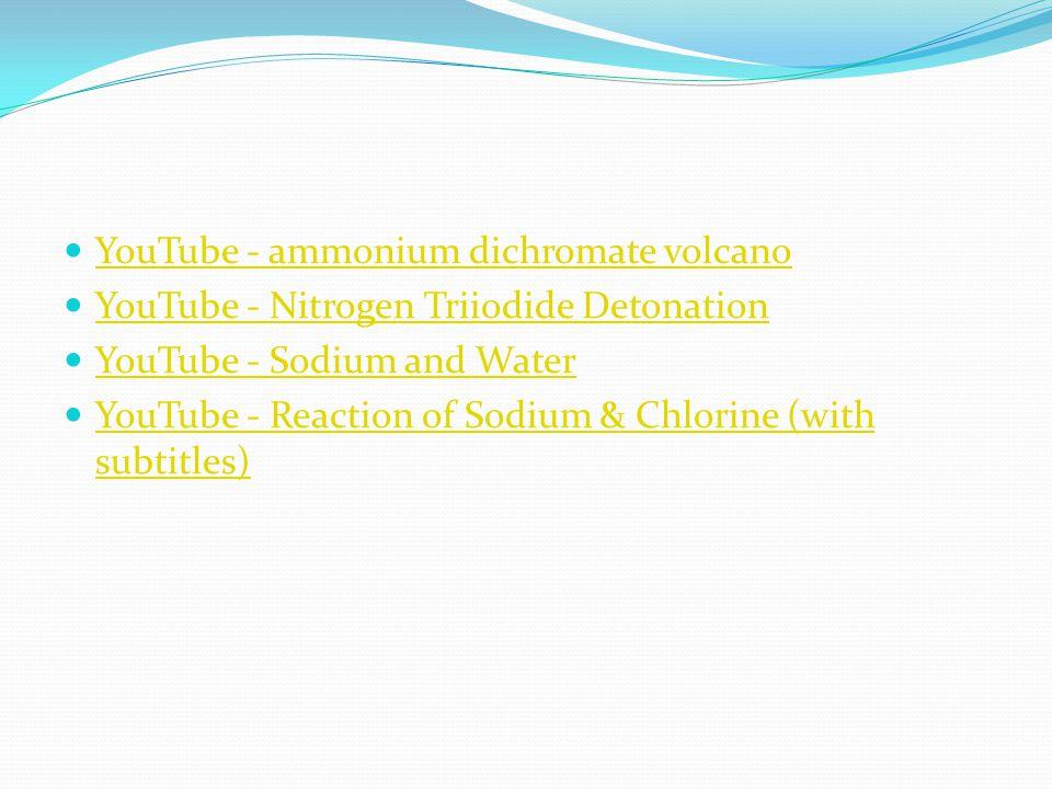 YouTube - ammonium dichromate volcano