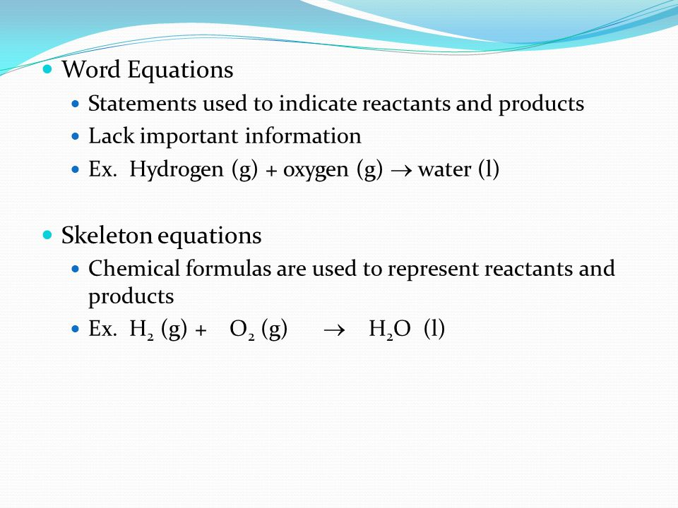 Word Equations Skeleton equations