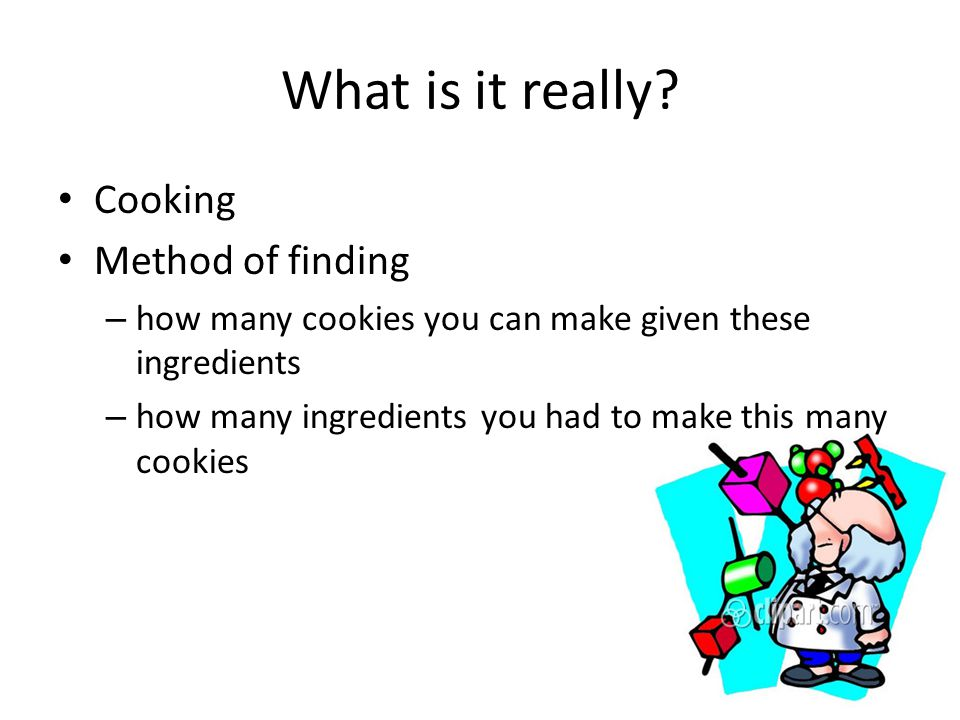 What is it really Cooking Method of finding