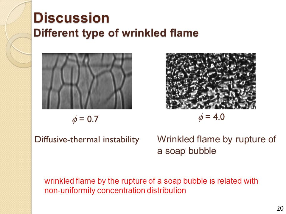 Discussion Different type of wrinkled flame