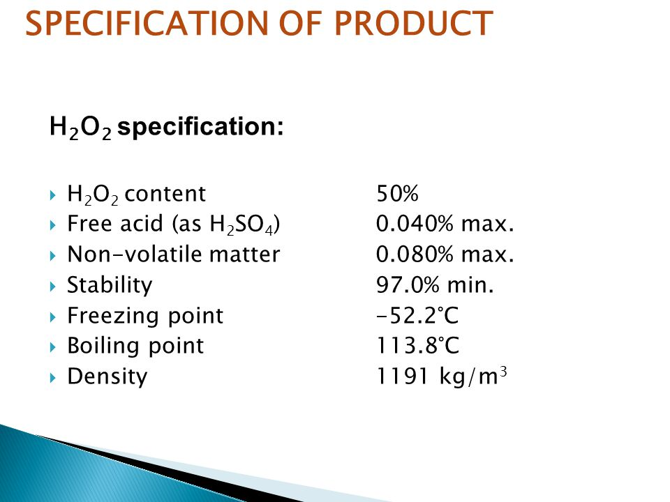SPECIFICATION OF PRODUCT