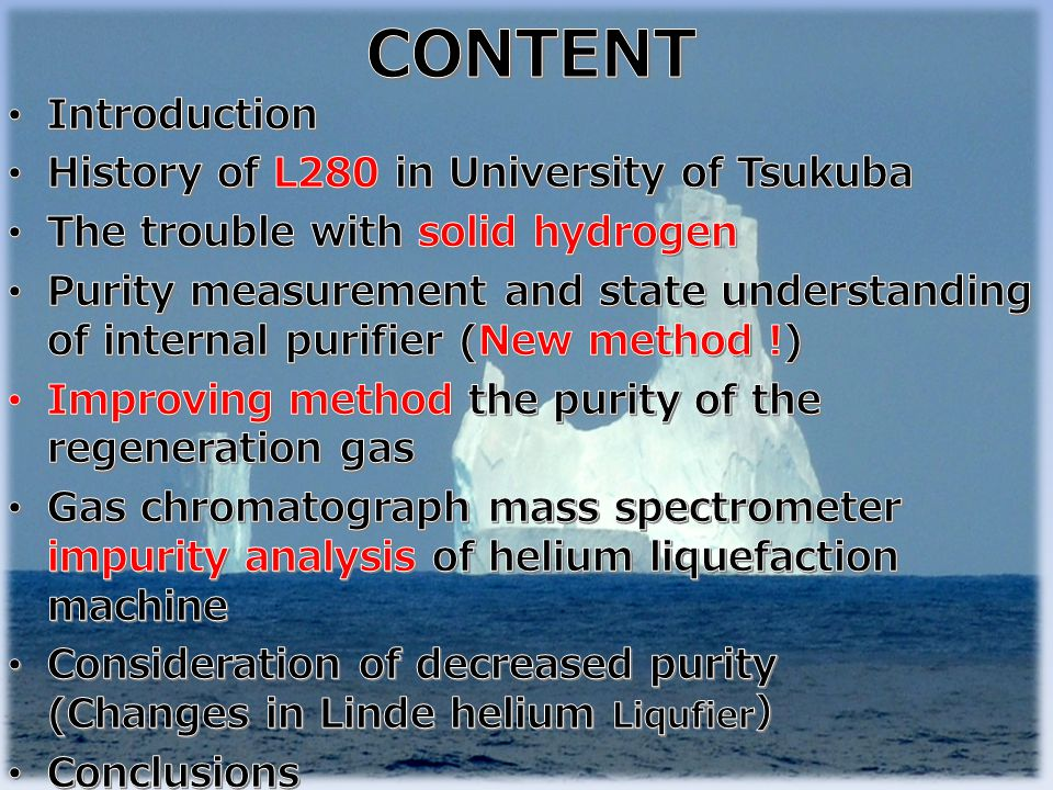 CONTENT Introduction History of L280 in University of Tsukuba